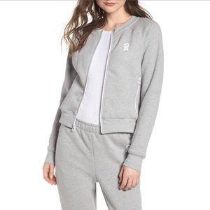 🔥🔥 Good American • Grey Zip Up Sweatshirt logo
